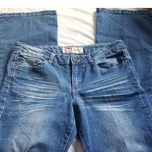 lei Ashley Lowrise Boot Cut Denim Jeans Sz 7